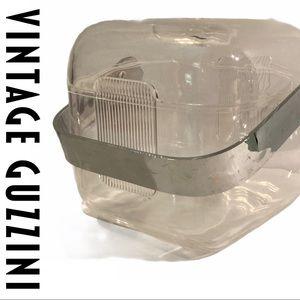 VTG Guzzini Lucite Ice Bucket Clear MCM Italian
